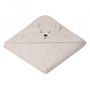 Liewood Badcape Baby Polar Bear Sandy