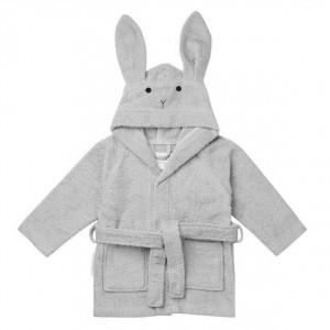 Liewood Badjas Konijn Dumbo Grijs 1-2 jaar