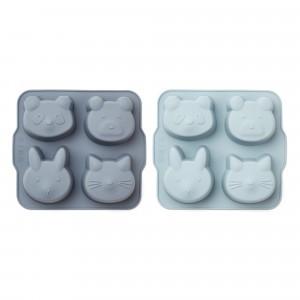 Liewood Silicone Bakvormen (2-pack) Blue Mix