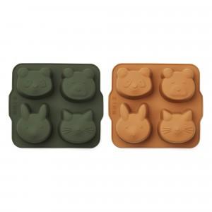 Liewood Silicone Bakvormen (2-pack) Hunter Green/Mustard
