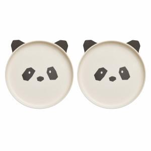 Liewood Bamboo Bord (2 pack) Panda Creme de la creme