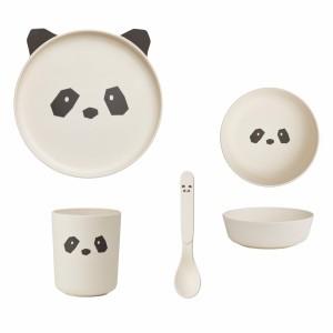 Liewood Bamboo Servies Panda Creme de la creme