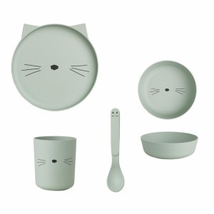 Liewood Bamboo Servies Kat Mint