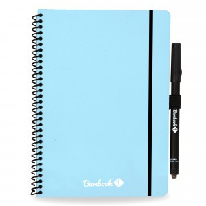 Bambook Uitwisbaar Whiteboard Schrift - Softcover Combi A5 Blauw