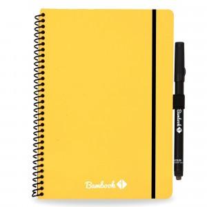 Bambook Uitwisbaar Whiteboard Schrift - Softcover Combi A5 Geel