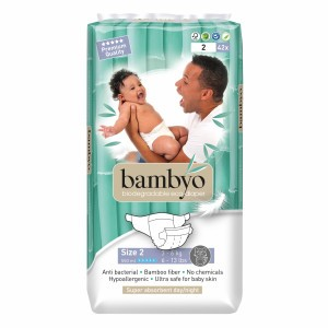 Bambyo Bamboe Wegwerpluiers maat 2 (3-6 kg)