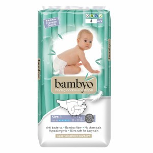 Bambyo Bamboe Wegwerpluiers maat 3 (5-9 kg)