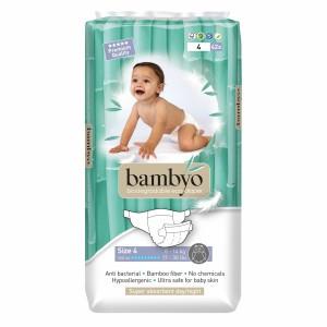 Bambyo Bamboe Wegwerpluiers maat 4 (9-13 kg)