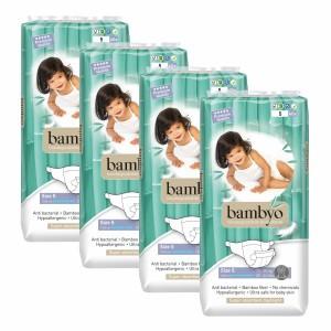 Bambyo Bamboe Wegwerpluiers maat 5 (4 pakken) Voordeelpakket