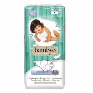 Bambyo Bamboe Wegwerpluiers maat 5 (13-20 kg)