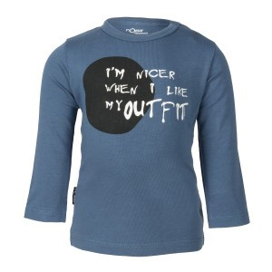 nOeser Newborn T-Shirt met Lange Mouwen ' I'm nicer when I like my outfit'