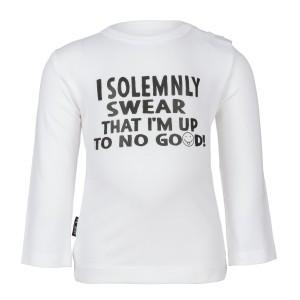 nOeser Newborn T-Shirt met Lange Mouwen 'I Solemnly Swear'
