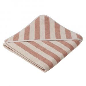 Liewood Badcape Alba Stripe Rose/Sandy