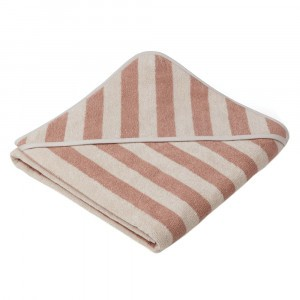 Liewood Badcape Louie Stripe Rose/Sandy