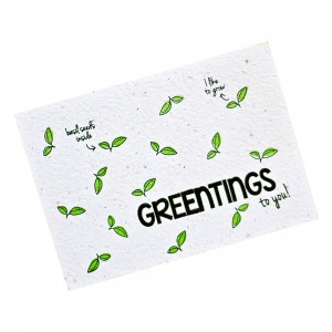 "Bloom Your Message Postkaart Basil ""Greentings"""