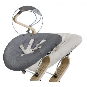 Nomi Baby Basis Grey met Matras Dark Grey/Sand