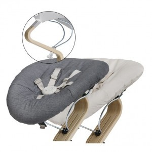 Nomi Baby Basis White met Matras Dark Grey/Sand