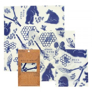 Bee's Wrap Herbruikbare Food Wrap Bijenwasfolie Starter Set 'Bee's & Bears' (Small, Medium, Large)