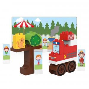 Biobuddi Bouwblokken Town Brandweerwagen