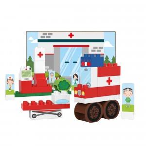 Biobuddi Bouwblokken Town Ziekenhuis