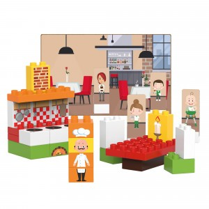 Biobuddi Bouwblokken City Life Restaurant