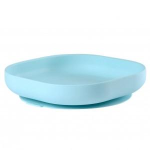 Beaba Silicone Bord met zuignap Blauw
