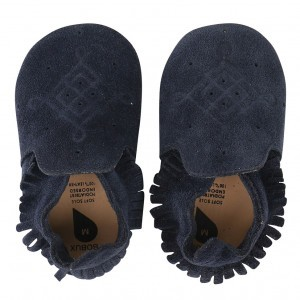 Bobux Soft Soles Suede Moccasin Navy