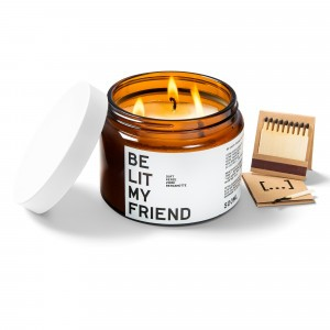 Be Lit My Friend Geurkaars Bergamot & Dennenhout (500 ml)