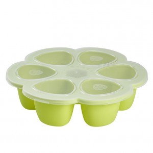 Beaba Siliconen Tray Multiportions Groen (6 x 90 ml)