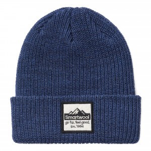 Smartwool Muts Kids Patch Beanie (L/XL) - Alpine Blue Heather