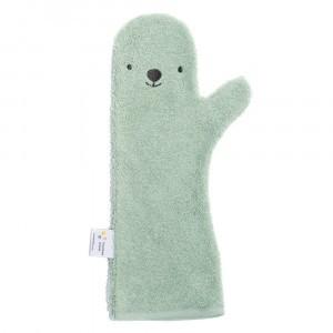 Nifty Baby Shower Glove Bear Green
