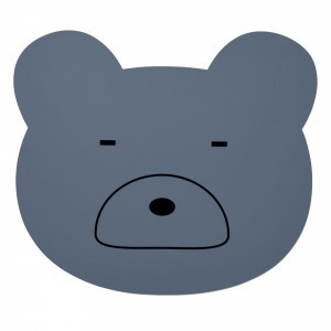 Liewood Silicone Placemat Mr. Bear Blauw