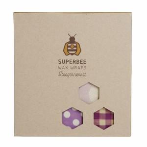 Superbee Herbruikbare Waxwraps Bijenwasfolie Beeginnerset