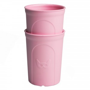 Herobility Eco Peuter Beker Pink (2 stuks)