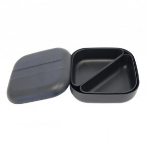 Ekobo Bento Lunchbox Zwart + 2 compartimenten
