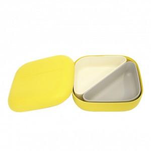 Ekobo Bento Lunchbox Geel + 2 compartimenten