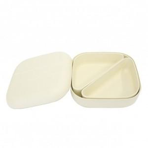 Ekobo Bento Lunchbox Wit + 2 compartimenten