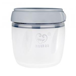 Haakaa Generatie 3 Silicone Bewaarbakje (160 ml) Grijs