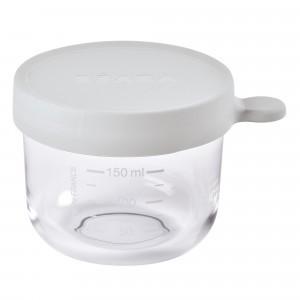 Beaba Glazen Bewaarpotje Mistgrijs (150 ml)