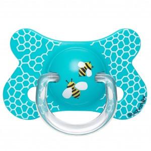 Suavinex Fopspeen Fusion Fysiologisch Silicone +4 maand Bijtjes Blauw