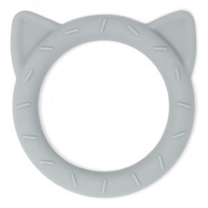 Mushie Silicone Bijtring Cat Stone