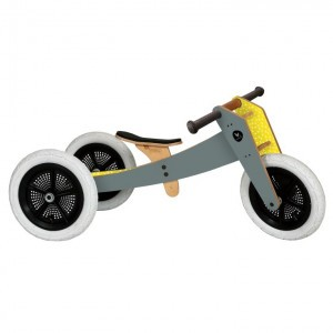 Wishbone Bike 3-in-1 Hout Grijs