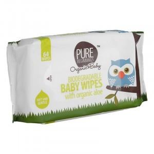 Tweede Kans product - Pure Beginnings Baby Doekjes met aloë (64 doekjes)