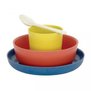 Biobu Bambino Kinder Eetset Lemon, Tomato, Royal Blue