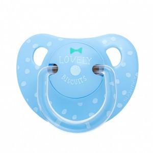 Suavinex Fopspeen Anatomisch Silicone +6 maand Strikje Biscuit Blauw