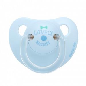 Suavinex fopspeen Anatomisch Silicone 0-6 maanden Lovely Biscuits Blauw