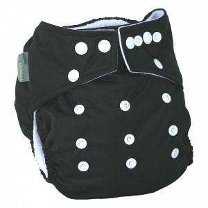 Little Lamb One Size Nappy Black
