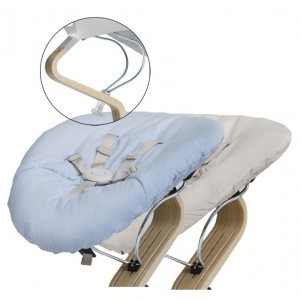 Nomi Baby Basis White met Matras Pale Blue/Sand