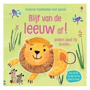 Usborne Voelboekje met geluid Blijf van de leeuw af!