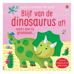 Usborne Voelboekje met geluid Blijf van de dinosaurus af!